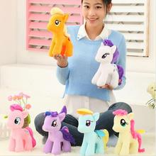 "1Pcs 6 color 6"" 16cm Stuffed Animal Rainbow Horse Plush Animals Soft Doll Little Horse BaoLi best Gifts for Children"