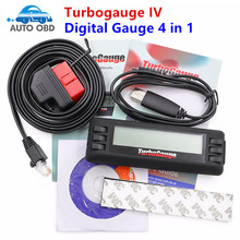 Turbogauge IV 4-in-1 Vehicle Computer OBDII/EOBD car trip computer/Digital Gauges/scan gauge/car scan tool Digital Gauge 4 in 1