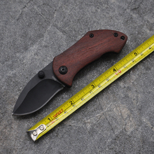 High quality Mini Pocket Folding Hunting Knife Tactical Survival Knives 440C Blade Steel Wood Handle Hand Tools