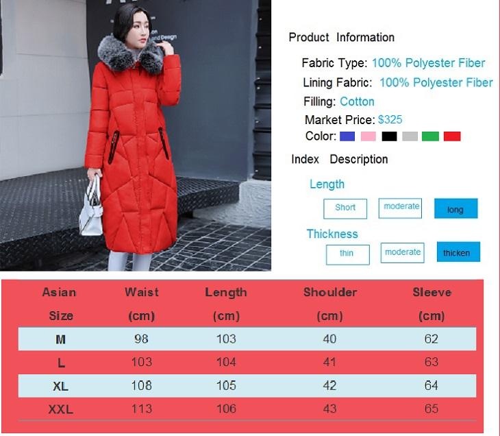 2017 Winter Women Coat Thicken Warm Long Jacket women coat girls long slim big coat jacket Down Parka+8 (2)