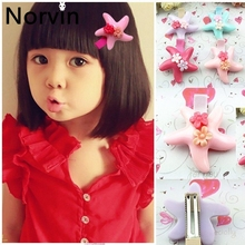 Norvin Kid Girl Hair Accessories Starfish Girl Hair Clip For Kids Korean Hairpin Barrettes 2 Pcs/lot Lovely Gift New 2017
