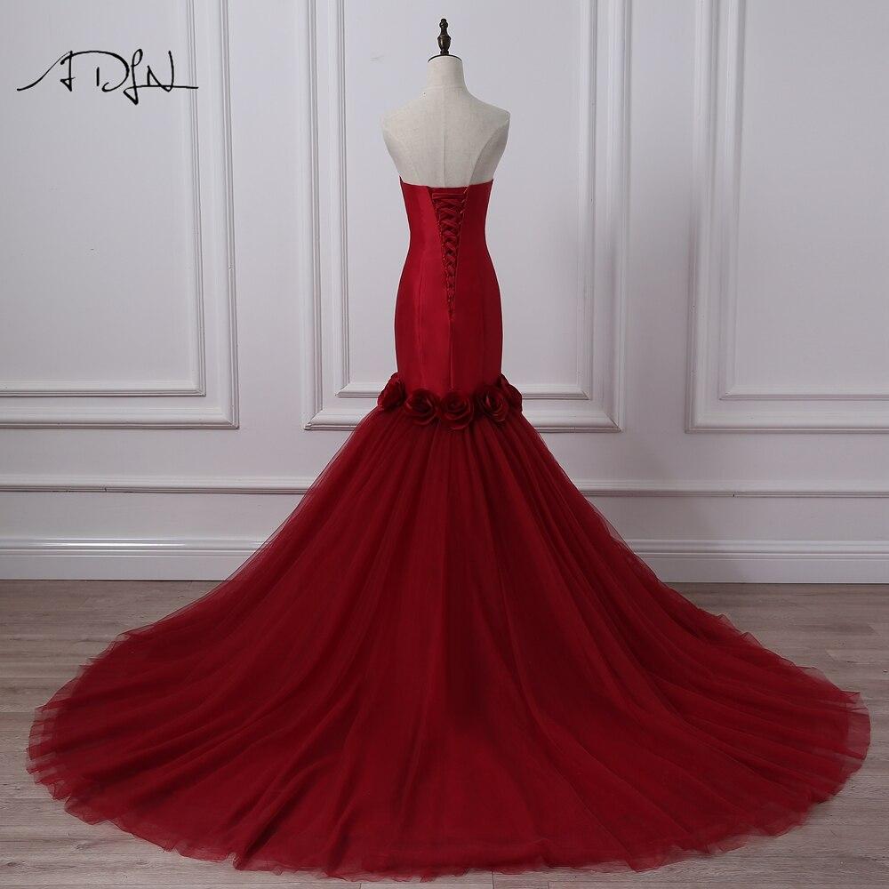 HTB163bhSXXXXXaUXpXXq6xXFXXX5 - ADLN Mermaid Burgundy Wedding Dresses Photography Sweetheart Sleeveless Satin Bridal Gowns with Flowers Vestido de Novia