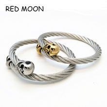 2016 Design Restoring Ancient Ways of Fashion Bracelet Skull Bracelet with Men and Women Fashion Man Bangle Punk