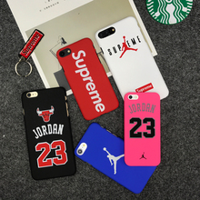 Hot supreme brand Jordan bull sports Matte hard plastic protection case for iphone 7 7plus 5 5s se 6 S 6s plus Coque cover cases