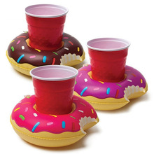 3pcs/set Colorful PVC Inflatable Donut Cup Holder Floating Inflatable Coasters Drink Holders Pool Can Party Swiming Toys New