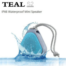 TEAL W-KING S2 Mini Portable Waterproof Bluetooth Speakers Wireless Outdoor Music Sound Box Loudspeaker with FM Radio/TF Card(China)