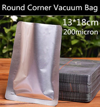 New 200pcs 13cm x18cm (5.1'' * 7.1'') 200micron Heat Sealed 3-side Foil Vacuum Bag Food/Tea/Coffee Beans/Cooked Food Packaging(China)