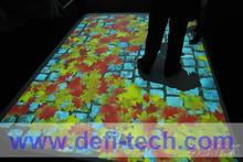 Interactive floor projection system for Advertising,for corporate function and entertainment with 130 effects