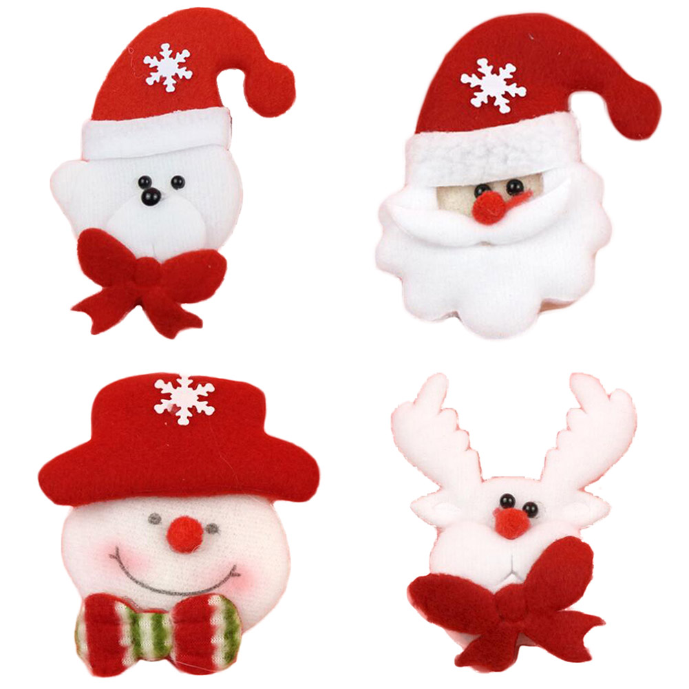 Arts,crafts & Sewing Apparel Sewing & Fabric Hoomall Brooch Led Glowing Cartoon Santa Claus Snowman Deer Christmas Brooch Pin Cute Xmas Toy Flag Pin Art Pin