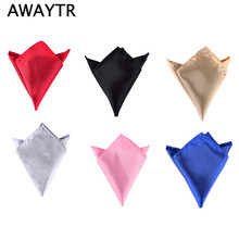 2 Pcs/Lot Brand Fashion Men's Pocket Handkerchiefs Men's Business Casual Square Handkerchief Candy Color Wedding Suit