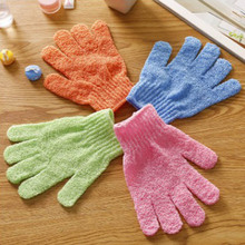 1 pcs Five fingers Shower Bath Gloves Exfoliating Wash Skin Spa Bath Gloves Massage Body Scrubber Cleanning Bath Brushes(China)