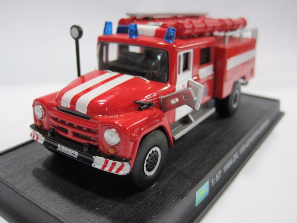 New 1:57 Scale Fire Truck Models 1964 ZiL 130-431410 Kazakhstan Diecast Fire Trucks Car Toys Vehicles Collection(China)