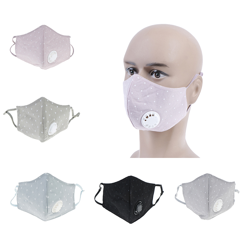 1Pc Fashion Unisex Cotton Breath Valve Mouth Mask Anti-Dust Anti Pollution Mask Cloth filter respirator Mouth-muffle