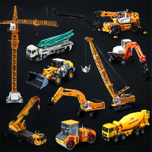 Alloy Engineering Vehicle Material Handling vehicle Manipulator Arm Crane Extend Metal Truck Model Car Toy Christmas Gift
