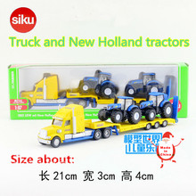 SIKU/1:87 Die Cast Metal Model/Simulation toy:Platform truck and New Holland Tractors/for children's gifts or for collection