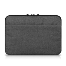 Canvas Sleeve Laptop Bag For Macbook Air 13inch Zipper Case For Mac For Lenovo Notebook Mouse Tablet Carry Pouch Cover Dark Gray