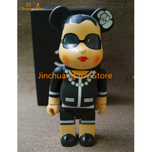 Hot Selling 11inch 400% Bearbrick Luxury Lady CH Be@rbrick PVC Action Figure Collectible Model Toy RETAIL BOX DE204