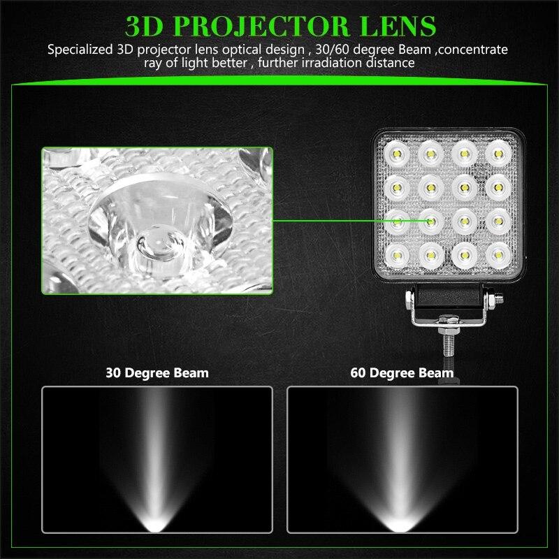 2pcs-4-inch-48W-Offroad-LED-Work-Light-Flood-Spot-Beam-3800LM-12V-24V-Industry-CAR