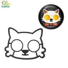 Kitchen Silicone Lovely Style Cats Frog Smiling Face Shape Egg Mold Breakfast Fried Eggs Mould Cute Interesting Mould