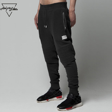 Aelfric Eden 2XL Men's Joggers Feet Pants Pleated Print Sweatpants Zipper Pocket Cozy Casual Pants Simple Cotton Male Trousers(China)