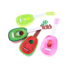New 1PCS Children Kids Creative Cute Mini Fruit Learn Guitar Can Play Musical Instruments Toys Kids Educational Gifts 4 Styles