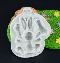 Sugar Buttons RABBIT Easter Bunny Silicone Mould Fondant Cake Molds Cupcake Tools Confeitaria Kitchen Accessories