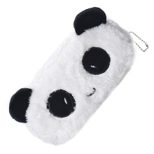 Affordable Kids Cartoon Pencil Case Plush Large Pen Bag Cosmetic Makeup Cartoon Storage Bag panda