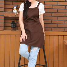 Korean fashion kitchen coffee milk tea nail shop apron Cotton women lady adult customize logo free print