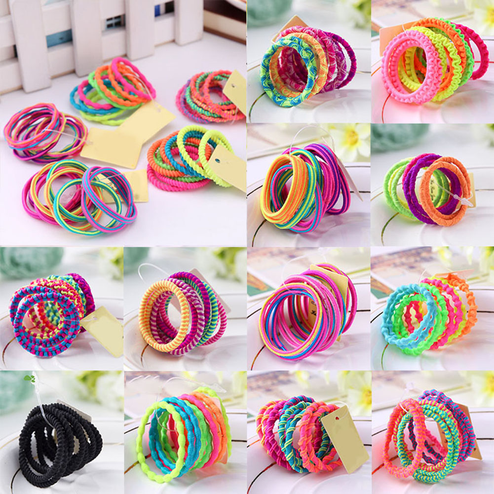10X Lots Baby Girl Elastic Rope Ring Hairband Women Hair Band Ponytail Holder