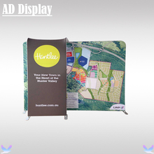 10ft*8ft Trade Show Booth Premium Tension Fabric Banner Advertising Backdrop Display With TV Stand(Include Single Side Printing)(China)