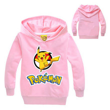 Hot pokemon go kids clothes boys hoodies and sweatshirts girls pikachu hoodie baby pokemon clothes full sleeve children clothing