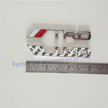 Car TRD Custom Chrome ABS 3D Letter nameplate Sticker Badge Emblem Auto Decal