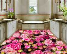 beibehang 3d flooring Home Furnishing indoor decorative painting senior romantic rose temple hall 3D floor tile papel de parede