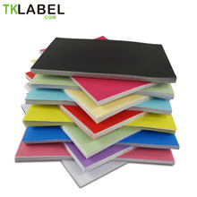 Color label paper A4 50/80/60 Matt Sheets Self-Adhesive for Laser/inkjet printer Mix color(China)