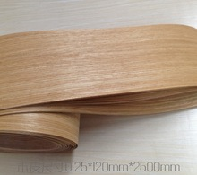L:2.5Meters/pcs    Wide:120mm Thickness:0.25mm Natural American white oak veneer  speaker manual leather veneer