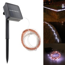 Energy Saving 12m 40ft 100leds Solar Rope Tube LED Light String STRIP Waterproof Outdoor Party(China)