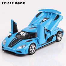 Four Color Koenigsegg Sport Car Model 1:32 Diecast Metal Auto Mini Pull Back Alloy Car Boy Acousto-optic Simulation Toys Vehicle
