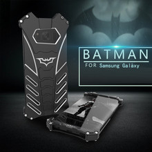R-Just Batman Luxury Metal Armor Case For Samsung Galaxy S8 S7 S6 edge plus NOTE 5 FE C5 C7 C9 Pro Aluminum Coque Capinhas Cover(China)