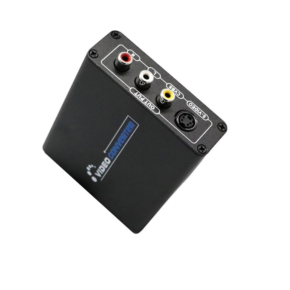 HIPERDEAL HDMI to 3RCA AV CVBS Composite & S-Video R / L Audio Converter Adapter Upscaler Oct27