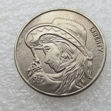 Type:#05 Hobo Nickel 1937-D 3-Eggled Buffalo Nickel Rare Creative Skull Beauty With Gun Copy Coin High Quality(China)