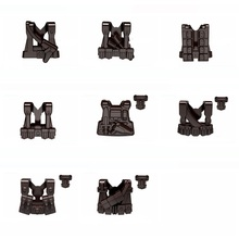 Tactical vest Third-party gun original Block toy swat police military weapons army accessories Compatible lepin mini figures