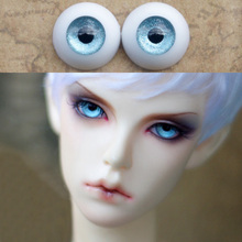 1 Pair Blue DIY Acrylic Doll Eyes 8mm 10mm 12mm 14mm 16mm 18mm 20mm 22mm Eyes for 1/8 1/6 1/4 1/3 BJD Doll Accessories Toy
