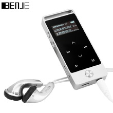 BENJIE MP3 Player With Sport Armband Mini MP3 Music Player Mp3 Sport Touch Screen 8G Portable TF FM E-Book Record OLED Sliver(China)