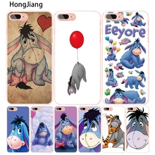 HongJiang Baby Eeyore Eeyore Donkey cell phone Cover case for iphone 4 4s 5 5s SE 5c 6 6s 7 8 X plus(China)