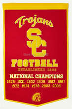USC University of Southern California College Basketball Banner Flag Polyester grommets 3' x 5' Custom metal holes Football Flag