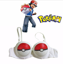 Japanese Anime Pocket Monster / Pokemon Ash Ketchum Poke Ball Underwear Cosplay Costume Game Pokemon Go Cosplay Bra CMP013