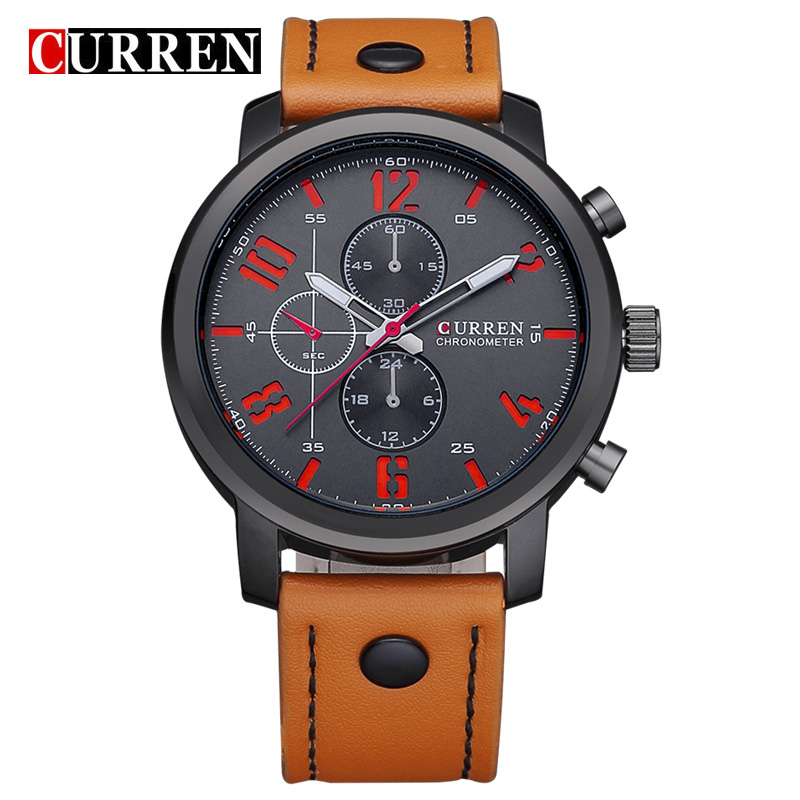 Curren Latest Design Fashion Casual Sports Quartz Men Watch Leather Wristwatch Relogio Masculino Montre Homme,W8192<br><br>Aliexpress