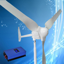 Hot Selling Wind Turbine 1KW 24V Wind Generator with 3PCS Blades, Combine with 1000W 24V Grid Tie Wind Turbine Inverter(China)