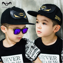 New 2016 Baby Boys Girls Caps Baseball Cap Leisure and comfort and high quality Children Batman pattern Hats