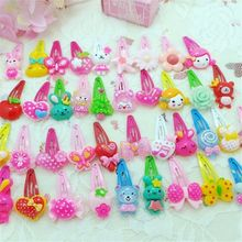 10PCS Mix Color Styles Flower Cartoon Hairpin Assorted Lovely Girls Hair Clips for Party Hair Band Accessories Free Shipping